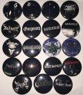Black Metal Pin Badge / Pin Badge (25mm)